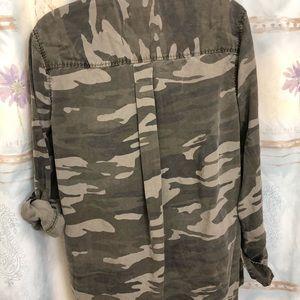 3d67b36b Express Tops - Express twill -Camo Boyfriend Shirt - Camouflage